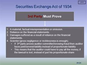 Section 20 Of The Securities Exchange Act Of 1934 by Chapter 20 Liability Mcgraw Hill Irwin Ppt