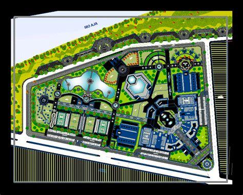 Recreational Center 2D DWG Design Plan for AutoCAD