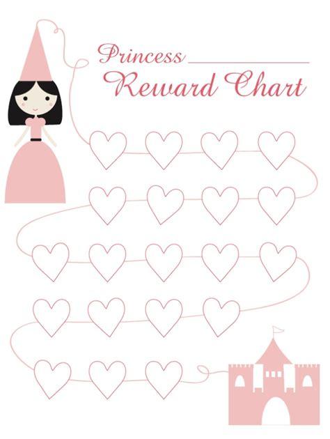 free printable reward charts for preschool princess reward chart free printable learning for kids