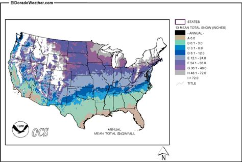 snow map united states united states yearly annual and monthly total snowfall