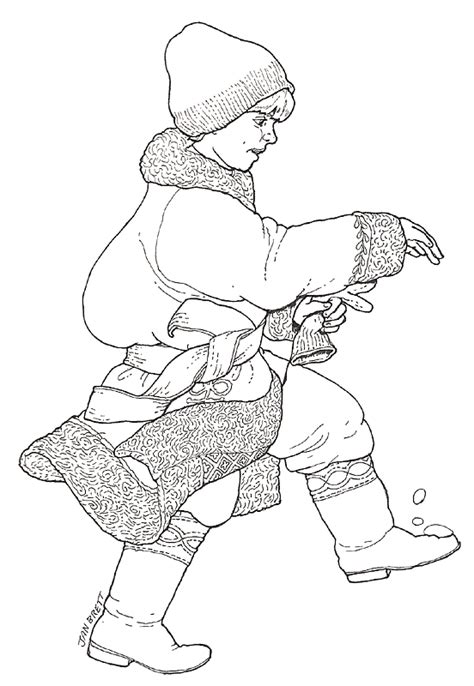 Jan Brett Coloring Pages The Mitten Coloring Page