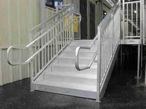 Aluminium Handrails For Stairs by Aluminum Steps With Handrail Redd Team