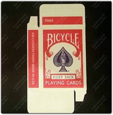 bicycle rider back card box template empty bicycle card box rider 808 blue