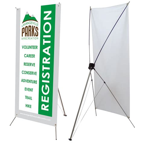 X Banner 0 8 1 2 1 8 2 tripod x banner stand with 60 quot x 24 quot banner