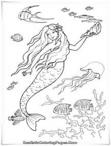 realistic mermaid coloring pages viewing gallery