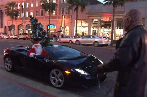 Los Angeles Lamborghini Santa Upgrades To Lamborghini Gallardo Spreads