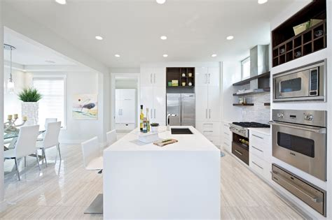 White wash wood flooring kitchen contemporary with