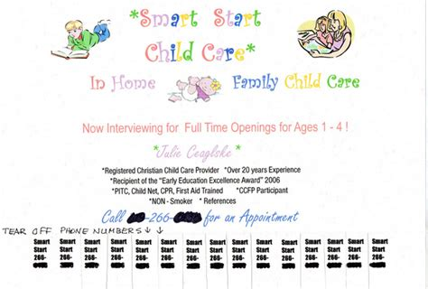 Child Care Resume Sle by At Home Child Care Ftempo