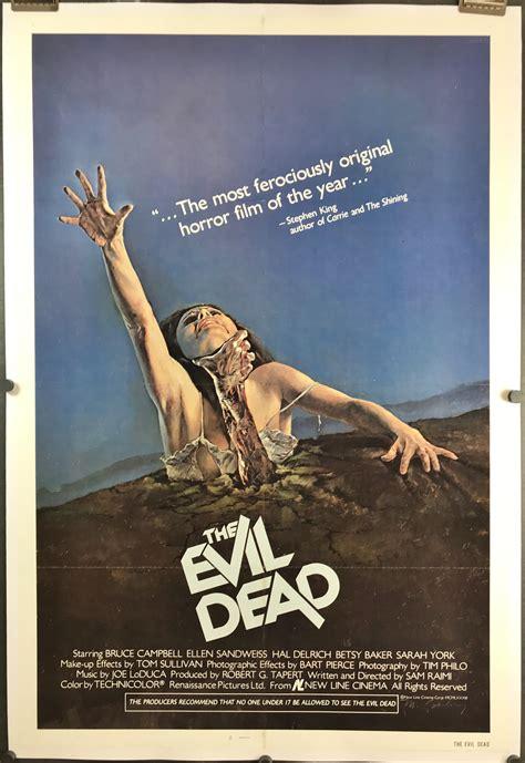 film evil dead the evil dead original bruce cbell horror 1 sheet