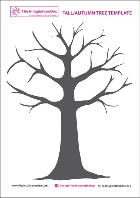 Print This Free Tree Template From The Imaginationbox To Create Your Own Beautiful Fall Autumn Tree Template To Print