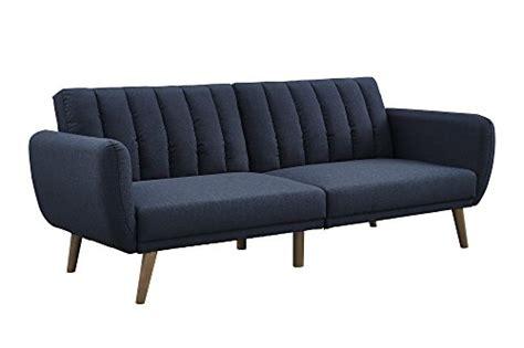 novogratz brittany convertible sofa dhp 2115629n novogratz brittany futon blue linen