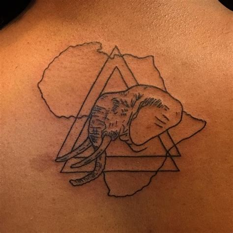 african elephant outline tattoo pinterest images of 39 best african tattoo idea images on pinterest african