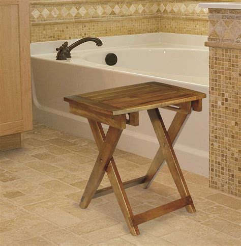 folding teak bench folding teak shower bench idea the decoras jchansdesigns