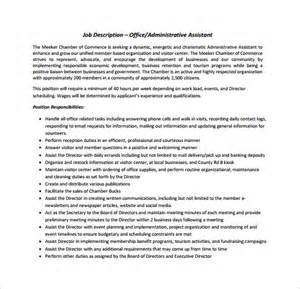 office assistant description template office assistant description template 9 free word