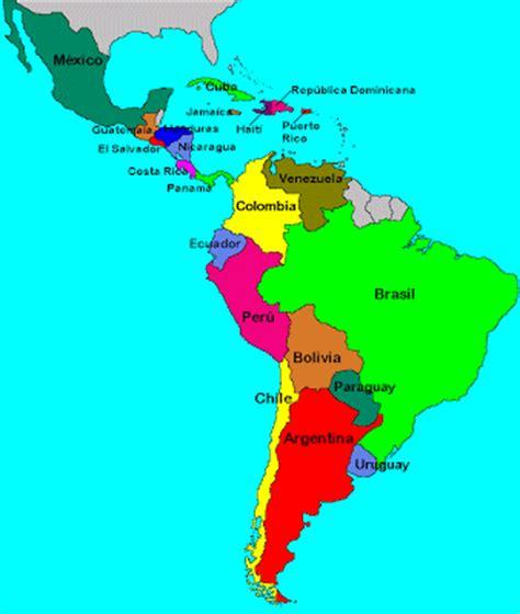 mapa de america paises pa 237 ses que formam a am 233 rica latina a influ 234 ncia da