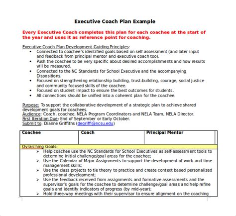 7 Construction Agreement Templates Sle Templates Coaching Plan Template