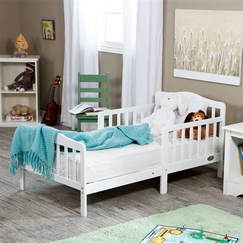 The Orbelle Contemporary Solid Wood Toddler Bed White Or Bed For Toddler