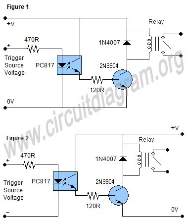 optocoupler transistor driver optocoupler relay driver circuit diagram