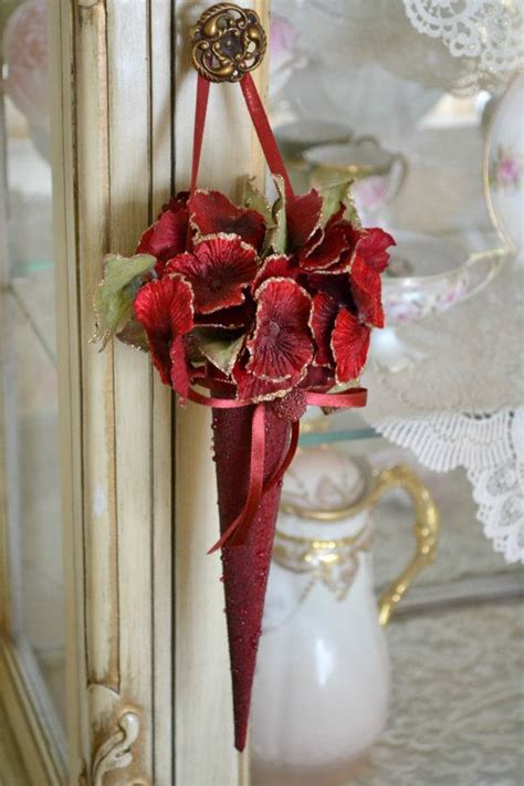 gorgeous vintage floral christmas decoration by