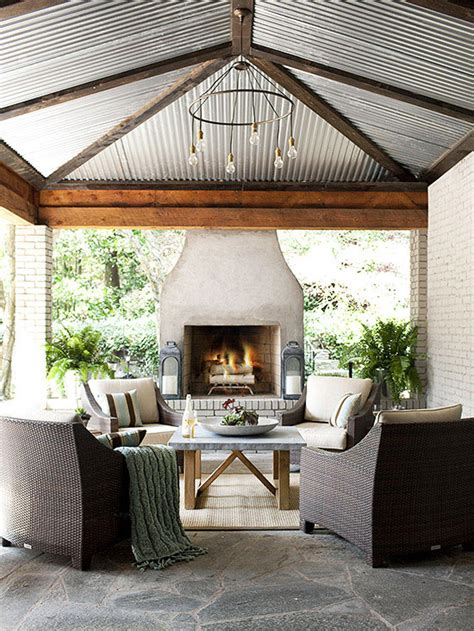 covered patio with fireplace outdoor fireplace ideas
