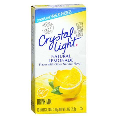 crystal light drink mix crystal light on the go drink mix lemonade walgreens