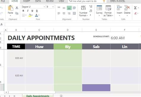excel weekly appointment calendar template daily appointment calendar template for excel