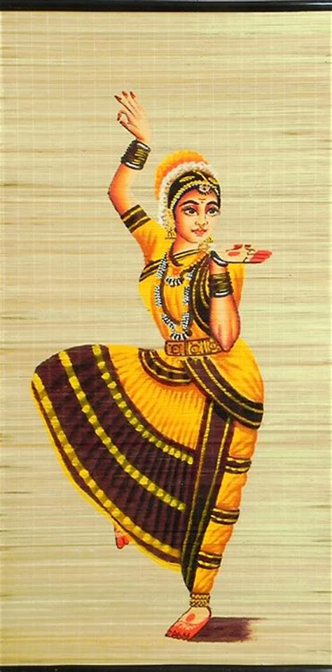 hand painted pictures abstract india dancer painting wall bharatnatyam dancer wall hanging