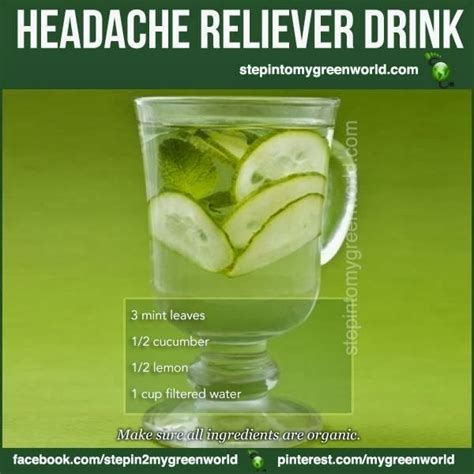 Detox Headache Cure by The Health Page Headache Reliever Drink