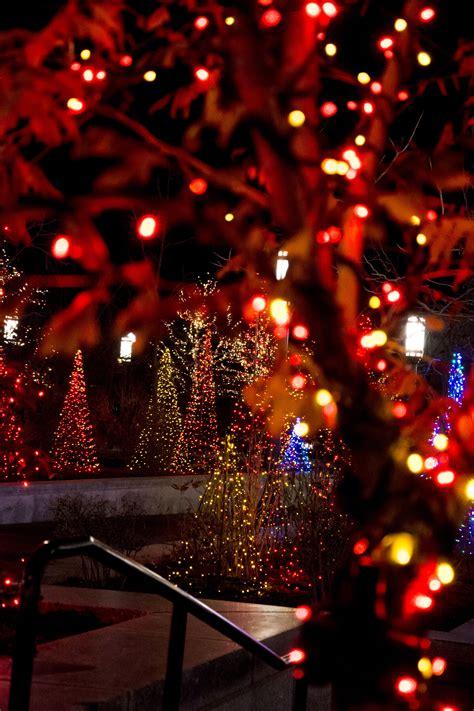 temple square christmas lights mormon temple square visitors help light the world