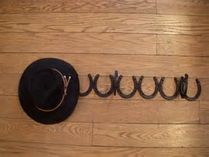 3 hat wall mounted cowboy hat rack