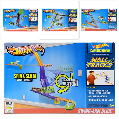 Swing Arm Smash wheels wall tracks car play sets with car included for ages 4 ebay