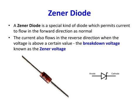 what is the voltage across a zener diode ppt lecture 4 diode led zener diode diode logic powerpoint presentation id 918872