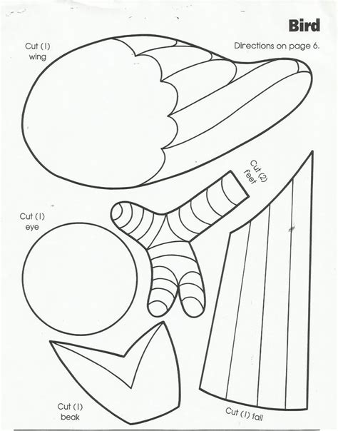 kindergarten activities birds use circles for the body and head add the worksheet cut