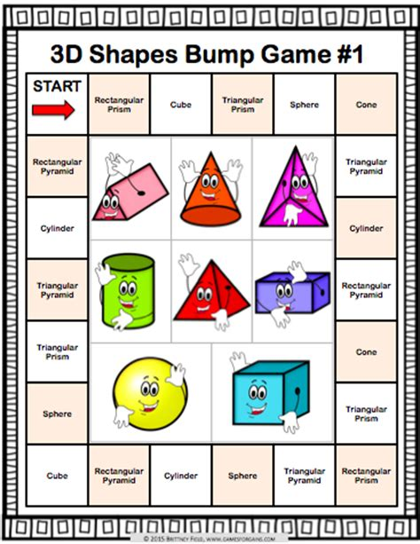 25 best ideas about 3d shapes activities on solid shapes 3d shapes and get this and 9 other 3d shapes bump to help students practice identifying and classifying