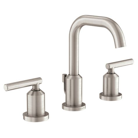 moen widespread bathroom faucet shop moen gibson spot resist brushed nickel 2 handle