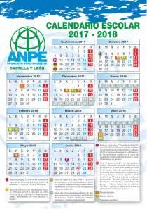 Calendario 2017 Y 2018 Calendario Escolar De Anpe 2017 2018 Actualidad Anpe
