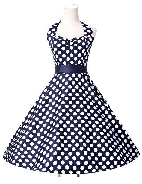 blue swing dress dark blue swing polka halter dress 1950sglam