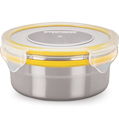 food storage containers airtight steel lock yellow airtight storage food containers 400 ml