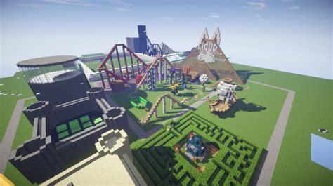 theme park popularmmos pat jen s theme park minecraft project