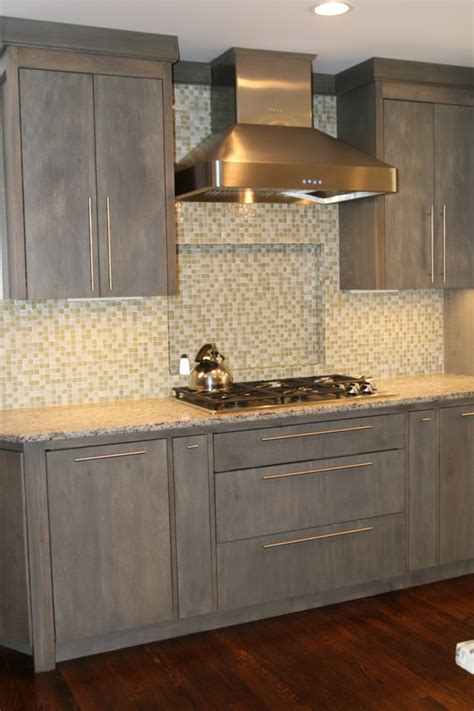 stain colors for kitchen cabinets Kitchen Contemporary