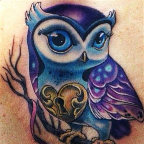 owl tattoo purple 1000 images about your bodies the canvas of your life