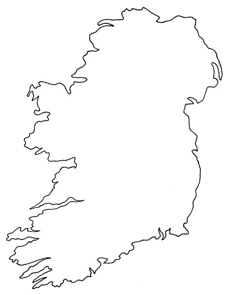 Ie Map Area Outline by Ireland Blank Map Ireland Map Geography Political City