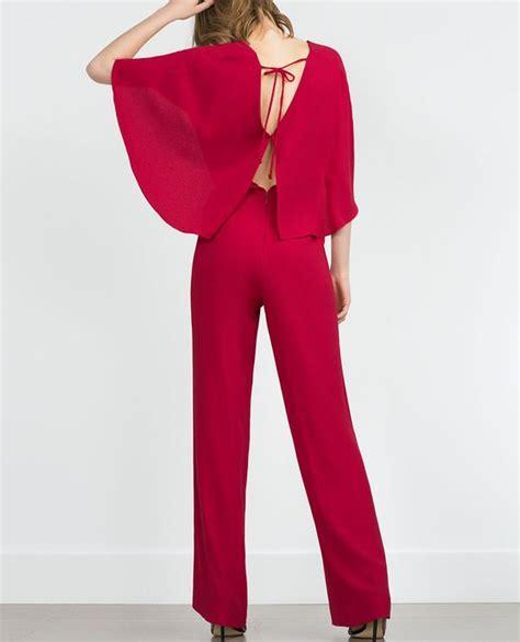 Zara Combi combinaison 192 manches chauve souris et col en v combinaisons femme zara fashion