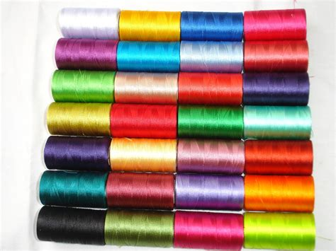 swing thread 30 spools of sewing machine silk art embroidery threads