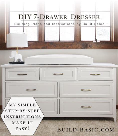 diy dresser plans build a diy 7 drawer dresser build basic