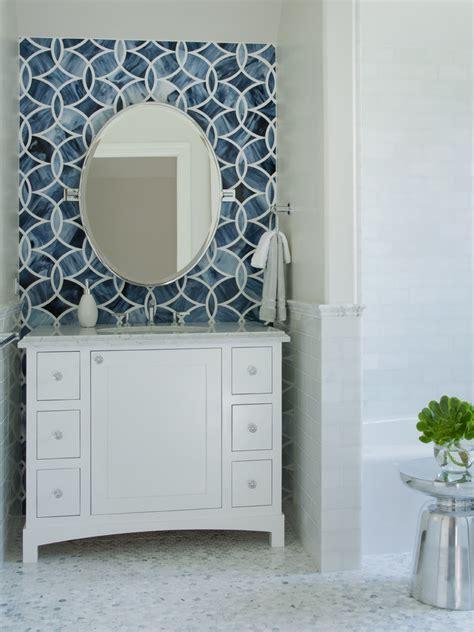 Ann Sacks Kitchen Backsplash blue mosaic tile bathroom traditional with blue blue and