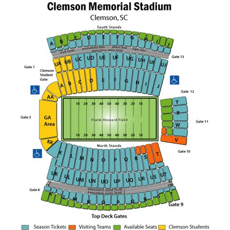 clemson seating chart valley clemson tickets where am i mars agtimes