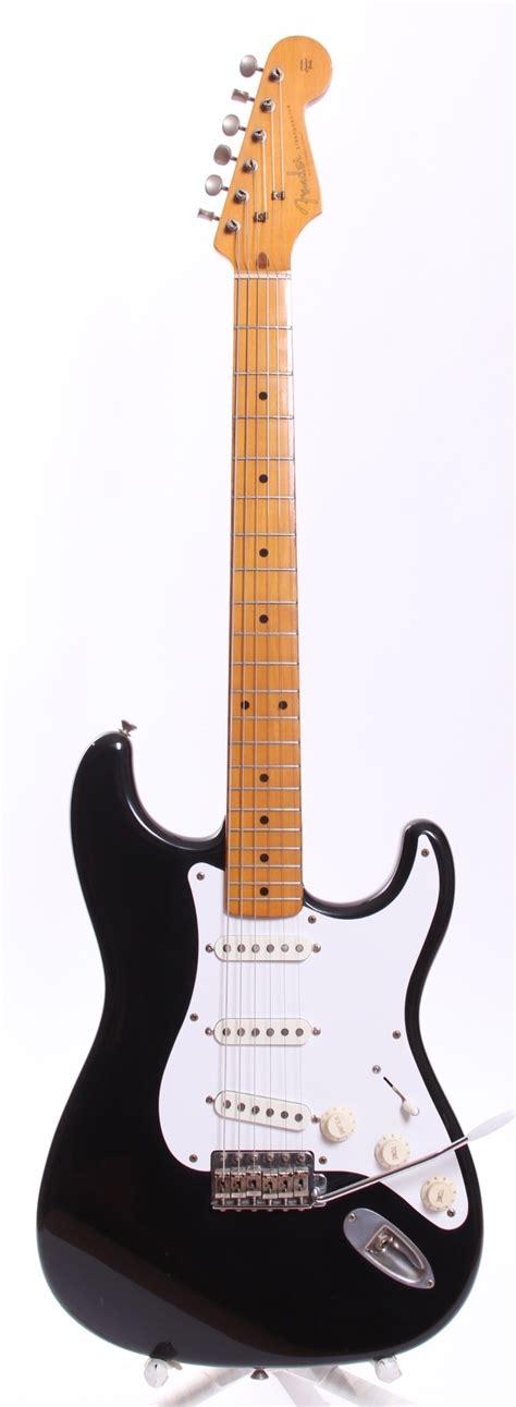 Fender Stratocaster Japan Reissue fender japan stratocaster 57 reissue 1985 black guitar