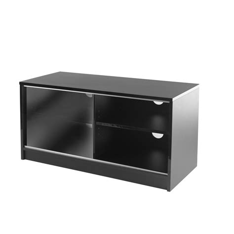 Tv Cabinet With Sliding Doors Black Single Sliding Door Lcd Plasma Tv Cabinet 90cm Holds Up To 42 Inch Televis Ebay
