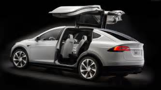 Electric Car Space X Wallpaper Tesla Model X White Electric Cars Suv 2016